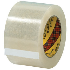 3M 313 Carton Sealing Tape Clear 3 inch x 55 yard Roll (6 Roll/Pack)