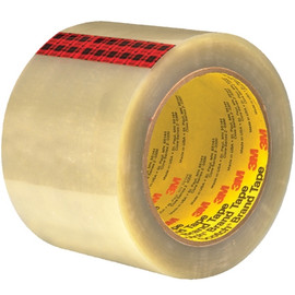 3M 351 Carton Sealing Tape Clear 3 inch x 55 yard Roll (6 Roll/Pack)