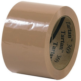 3M 369 Carton Sealing Tape Tan 3 inch x 110 yard Roll (24 Roll/Pack)