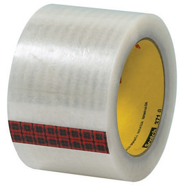 3M 371 Carton Sealing Tape Clear 3 inch x 110 yard Roll (24 Roll/Pack)