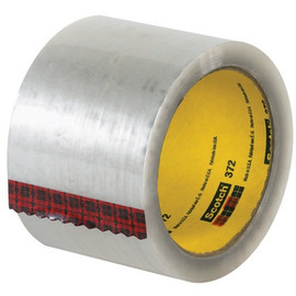 3M 372 Carton Sealing Tape Clear 3 inch x 55 yard Roll (6 Roll/Pack)