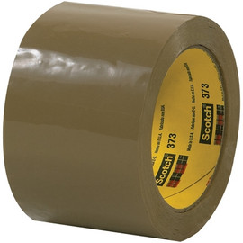 Carton Sealing Tape 3M 373 Tan 3 inch x 55 yard Roll (6 Roll/Pack)