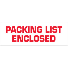 Tape Logic Pre-Printed Packing Tape White - Packing List Enclosed 3 inch x 110 yard Roll (6 Pack)