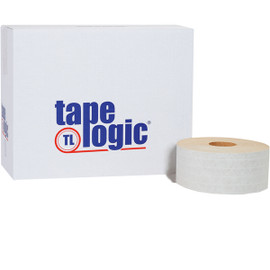 Tape Logic #7200 White Non Reinforced Water Activated Tape 72mm x 375 ft Roll (8 Roll/Pack)