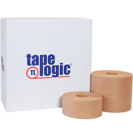 Tape Logic #7500 Non Reinforced Water Activated Tape 3 inch x 450 ft Roll (10 Roll/Pack)