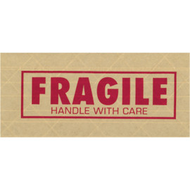 Tape Logic #7500  inchFragile inch Reinforced Water Activated Tape 3 inch x 450 ft Roll (10 Roll/Pack)