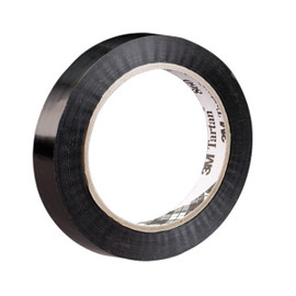 3M 860 Black Poly Strapping Tape 3/4 inch x 60 yard (96 Roll/Pack)