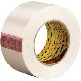 3M 8916 Strapping Tape 2 inch x 60 yard (24 Roll/Pack)