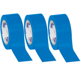 Tape Logic Blue Solid Vinyl Safety Tape 2 inch x 36 yard Roll (3 Pack)