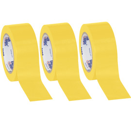 Tape Logic Yellow Solid Vinyl Safety Tape 2 inch x 36 yard Roll (3 Pack)