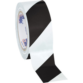 Tape Logic Black/White Striped Vinyl Safety Tape 2 inch x 36 yard Roll (24 Roll/Pack)