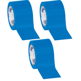 Tape Logic Blue Solid Vinyl Safety Tape 3 inch x 36 yard Roll (3 Pack)