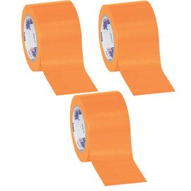 Tape Logic Orange Solid Vinyl Safety Tape 3 inch x 36 yard Roll (3 Pack)