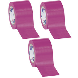 Tape Logic Purple Solid Vinyl Safety Tape 3 inch x 36 yard Roll (3 Pack)
