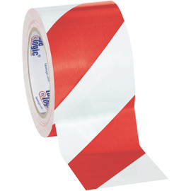 Tape Logic Red/White Striped Vinyl Safety Tape 3 inch x 36 yard Roll (16 Roll/Pack)