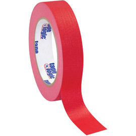 Tape Logic Masking Tape Red 1 inch x 60 yard Roll (12 Roll/Pack)