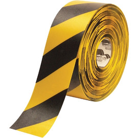 Mighty Line&#8482 Deluxe Safety Tape Yellow/Black 4 inch x 100 ft