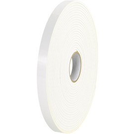 Tape Logic Double Sided Foam Tape 1/2 inch x 72 yard (1/32 inch Thick White) (24 Roll/Pack)