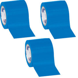Tape Logic Blue Solid Vinyl Safety Tape 4 inch x 36 yard Roll (3 Pack)