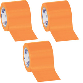 Tape Logic Orange Solid Vinyl Safety Tape 4 inch x 36 yard Roll (3 Pack)