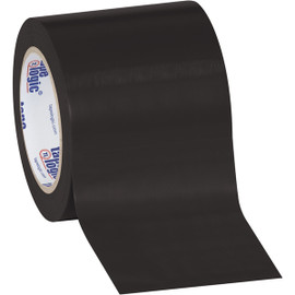 Tape Logic Black Solid Vinyl Safety Tape 4 inch x 36 yard Roll (16 Roll/Pack)