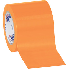 Tape Logic Orange Solid Vinyl Safety Tape 4 inch x 36 yard Roll (16 Roll/Pack)
