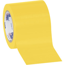 Tape Logic Yellow Solid Vinyl Safety Tape 4 inch x 36 yard Roll (16 Roll/Pack)