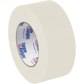 Tape Logic #5400 Natural White Flatback Tape 2 inch x 60 yard Roll (6 Pack)