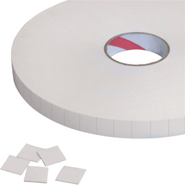 Tape Logic 1/32 inch Double Sided Foam Squares 1 inch x 1 inch (648 Squares)