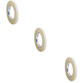 Tape Logic Double Sided Masking Tape 1/2 inch x 36 yard Roll (3 Pack)