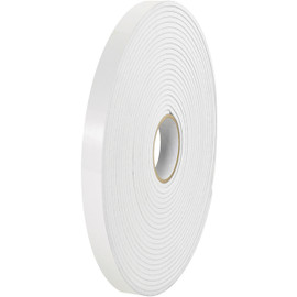 Tape Logic Removable Double Sided Foam Tape 1/2 inch x 72 yard (1/32 inch Thick White) (24 Roll/Pack)