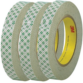 3M 410M Double Sided Masking Tape 3/4 inch x 36 yard Roll (3 Pack)