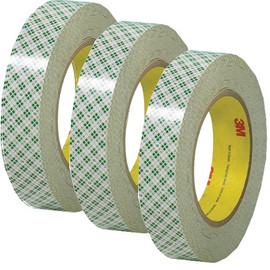 3M 410M Double Sided Masking Tape 1 inch x 36 yard Roll (3 Pack)