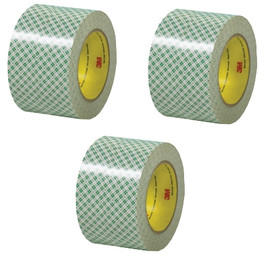 3M 410M Double Sided Masking Tape 3 inch x 36 yard Roll (3 Pack)