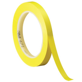 3M Vinyl Tape 471 Yellow 1/4 inch x 36 yard Roll (144 Roll/Pack)