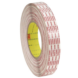 3M 476XL Double Sided Extended Liner Tape 1/2 inch x 360 yard Roll (12 Roll/Pack)
