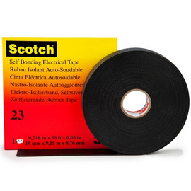 3M 23 Rubber Splicing Electrical Tape 3/4 inch x 30 ft Roll (20 Roll/Pack)