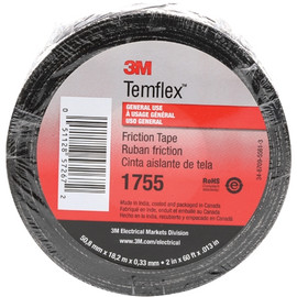 3M 1755 Cotton Friction Tape 3/4 inch x 60 ft Roll (10 Pack)