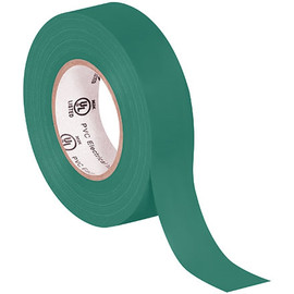 General purpose Electrical Tape 3/4 inch x 20 yard Green (10 Pack)
