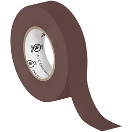 General purpose Electrical Tape 3/4 inch x 20 yard Brown (10 Pack)