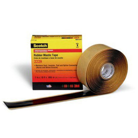 3M 2228 Rubber Mastic Tape 1 inch x 10 ft Roll (12 Pack)