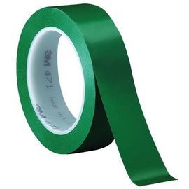 3M Vinyl Tape 471 Green 1 inch x 36 yard Roll (3 Pack)