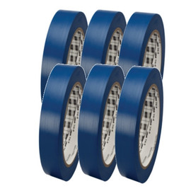3M General Purpose Vinyl Tape 764 Blue 1 inch x 36 yard Roll (6 Pack)