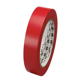 3M General Purpose Vinyl Tape 764 Red 1 inch x 36 yard Roll (36 Roll/Pack)