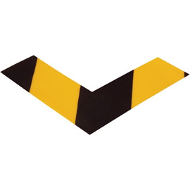 Mighty Line&#8482 Deluxe Safety Tape Angles Yellow/Black 6 inch x 6 inch x 2 inch (24 Pack)