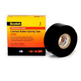 3M 130C Linerless Electrical Tape 2 inch x 30 ft Roll (12 Roll/Pack)