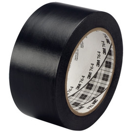 3M General Purpose Vinyl Tape 764 Black 2 inch x 36 yard Roll (24 Roll/Pack)