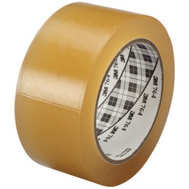 3M General Purpose Vinyl Tape 764 Clear 2 inch x 36 yard Roll (24 Roll/Pack)