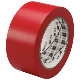 3M General Purpose Vinyl Tape 764 Red 2 inch x 36 yard Roll (6 Pack)