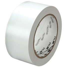 3M General Purpose Vinyl Tape 764 White 2 inch x 36 yard Roll (24 Roll/Pack)
